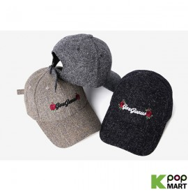 [ D ] Tweed rose ballcap