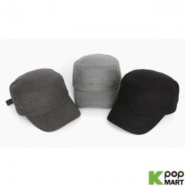 [ D ] Wool plain militart cap