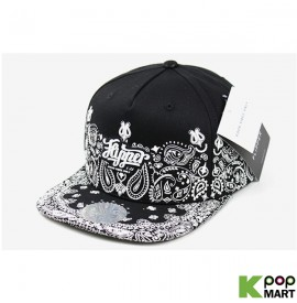 [ D ] Rubber paisley snapback