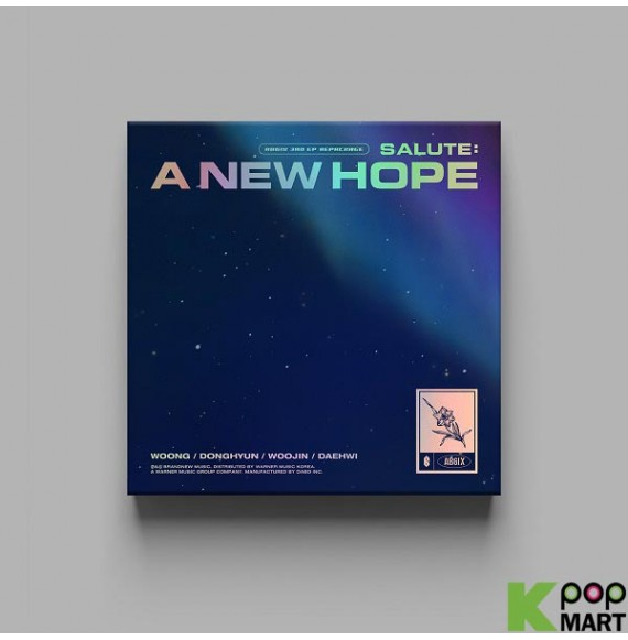 A New Hope 3rd EP Repackage Album Hope Version CD+1p Poster+80p PhotoBook+1p PhotoCard+1p Unit Card+1p Post+Envelope/&Hope Card+24p Behind Book+Sticker+Message PhotoCard Set+Tracking AB6IX Salute