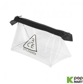 3CE - Clear Pouch Small BLACK