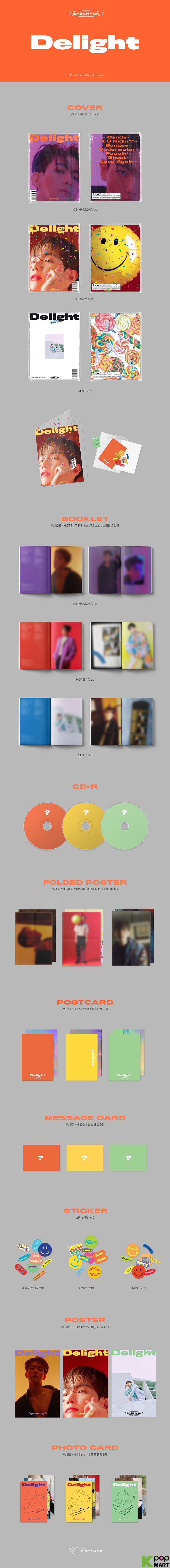 Baek Hyun Exo Mini Album Vol 2 Delight Random