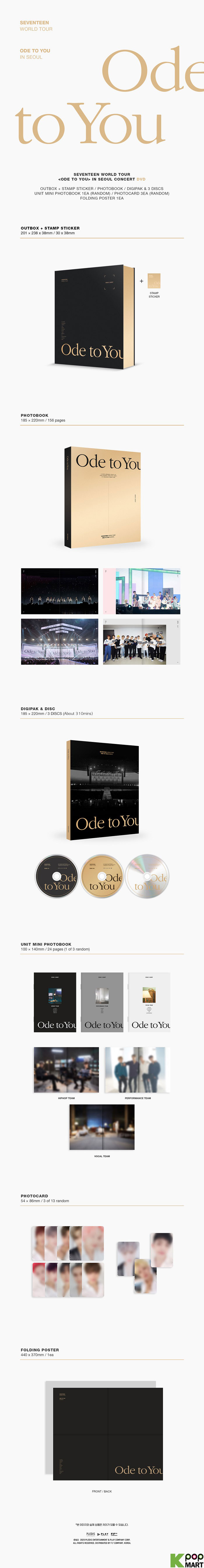 Image result for seventeen ode to you tour dvd